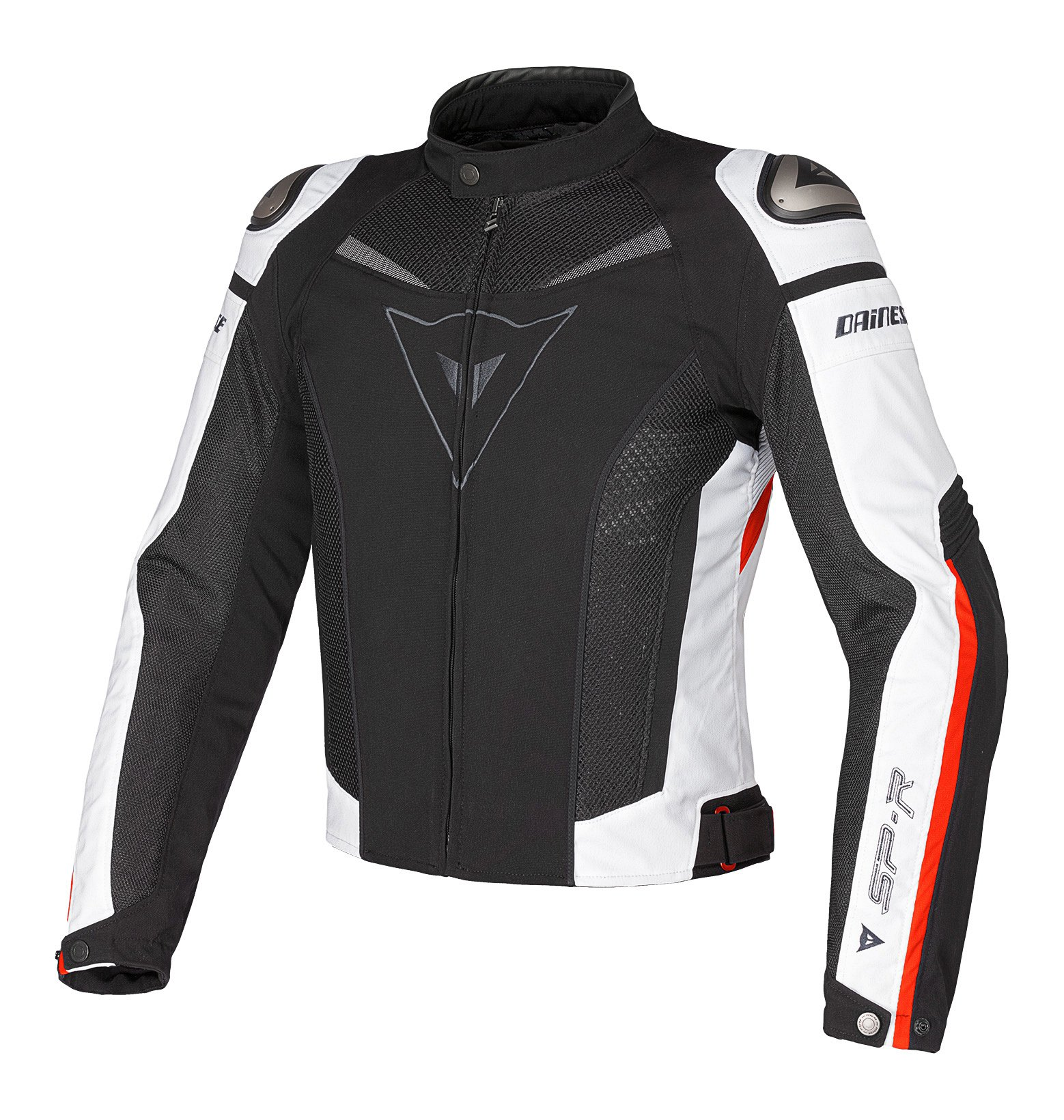 Dainese Super Speed Tex Textile Jacket (Euro 56/US 46, Black/White/Red) by Dainese