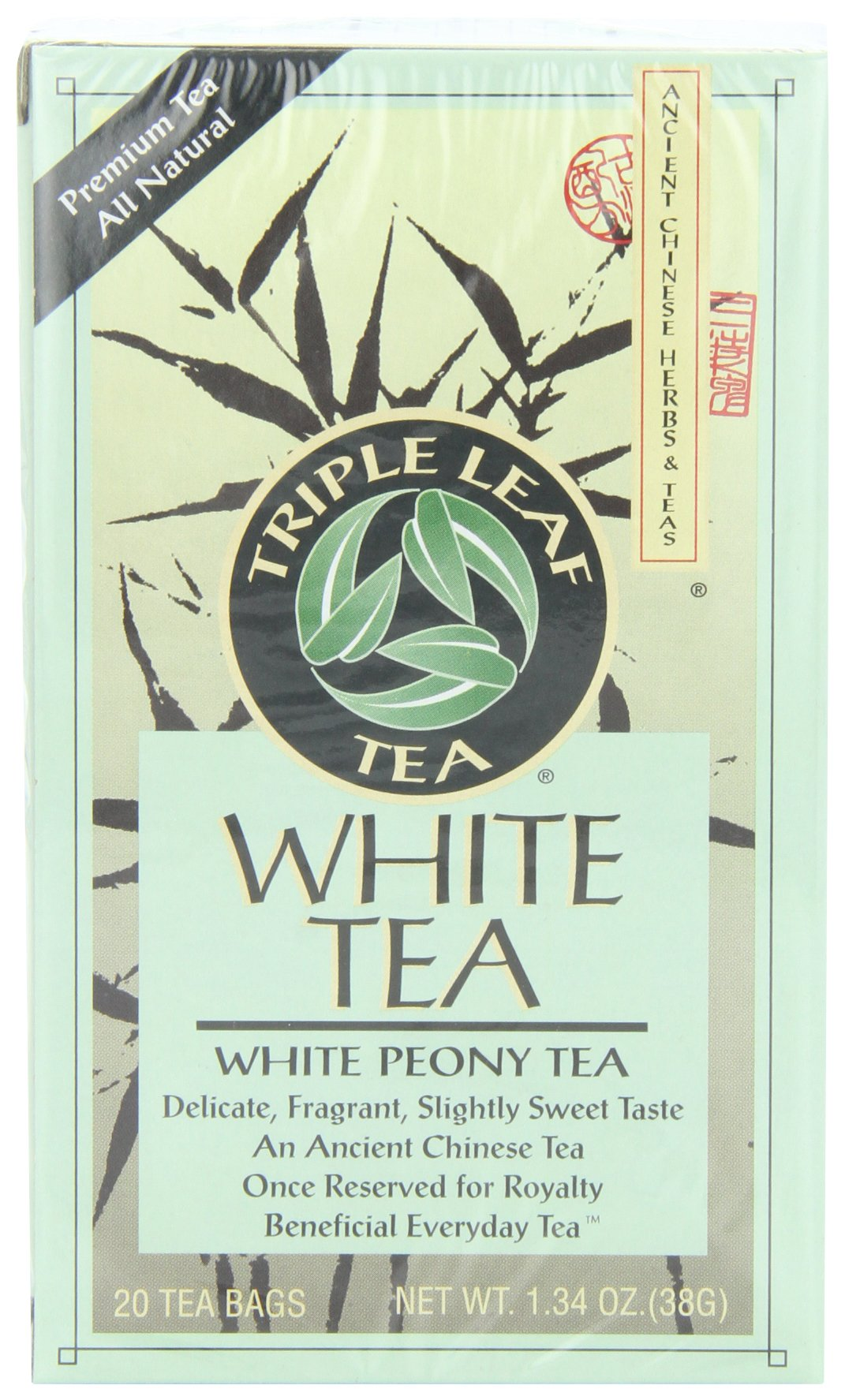 Triple Leaf Tea, White Peony, 20 Tea Bags (Pack of 6)