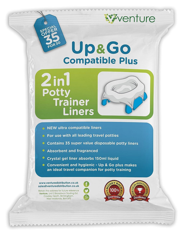 Doublure de pot transportable, 2en1, parfaite à utiliser avec les pots de voyage et Pote Plus, 35lots 2en1 35lots Venture Up & Go | 35