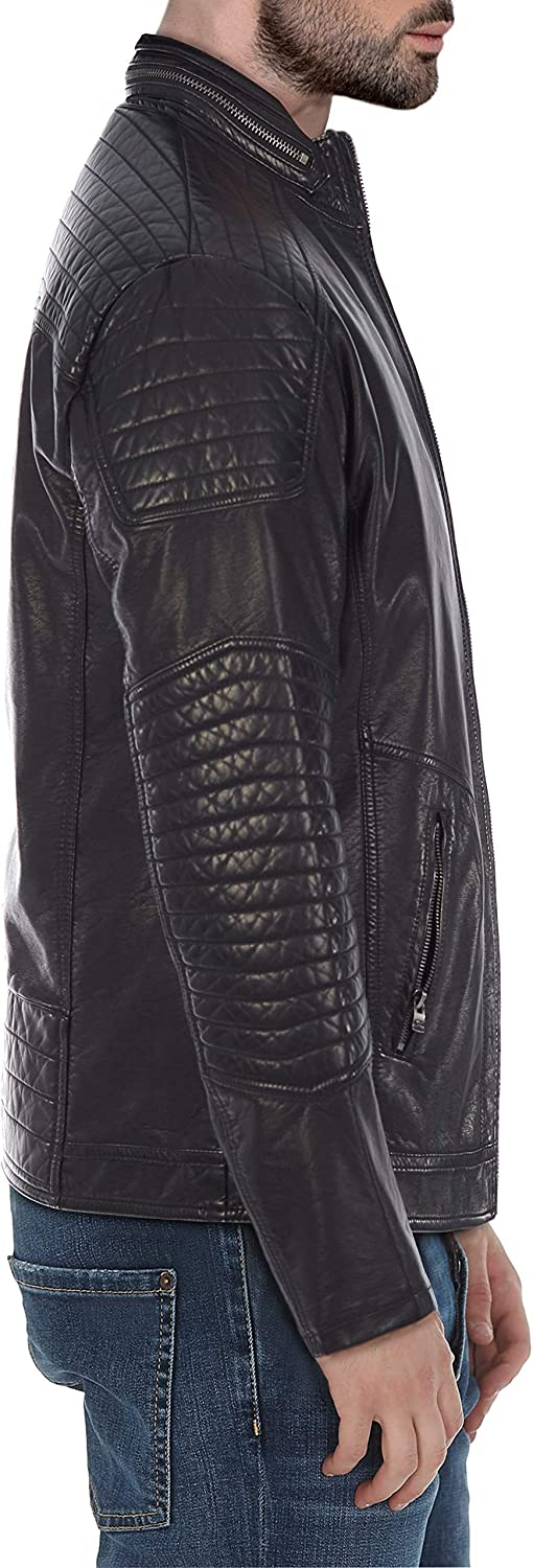 XMLJ-58021 XrayJeans Patched Biker Jacket
