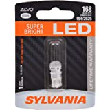 SYLVANIA - 168 T10 W5W ZEVO LED White Bulb - Bright LED Bulb, Ideal for Interior Lighting - Map, Dome, Truck, Cargo and License Plate (Contains 1 Bulb)