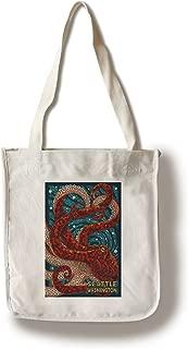 product image for Lantern Press Seattle, Washington - Octopus Mosaic (100% Cotton Tote Bag - Reusable)
