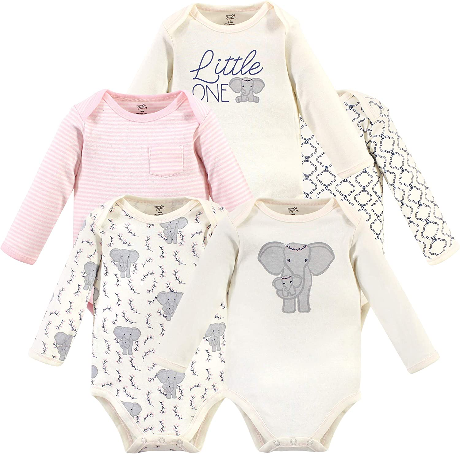 Touched by Nature Baby Organic Long Sleeve Sleeping Bag 2pk Elephant