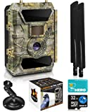 LTE 4G Cellular Trail Cameras – Outdoor WiFi Full HD Wild Game Camera with Night Vision for Deer Hunting, Security…