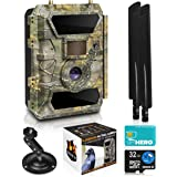 LTE 4G Cellular Trail Cameras – Outdoor WiFi Full HD Wild Game Camera with Night Vision for Deer Hunting, Security - Wireless