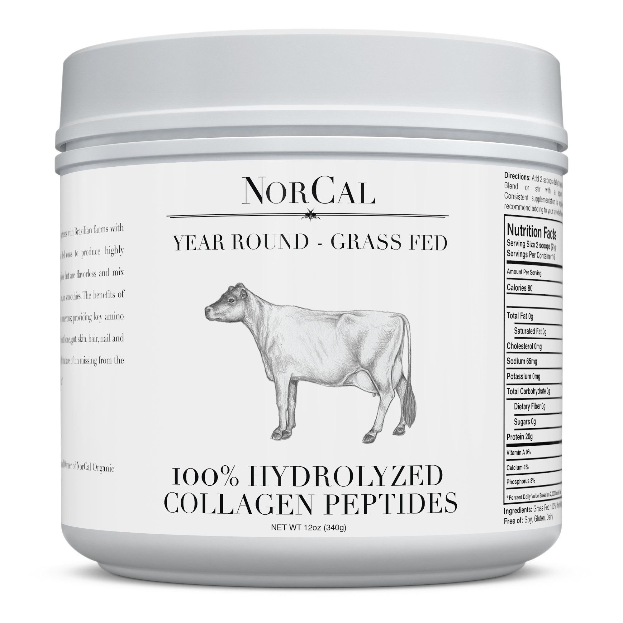 NorCal Collagen - Supplements Protein Production for Strong Healthy Bones, Joints, Cartilage & Tendons
