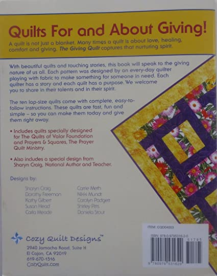 Amazon.com: THE GIVING QUILT - Fast Quilts for Comfort & Healing ... : the giving quilt book - Adamdwight.com
