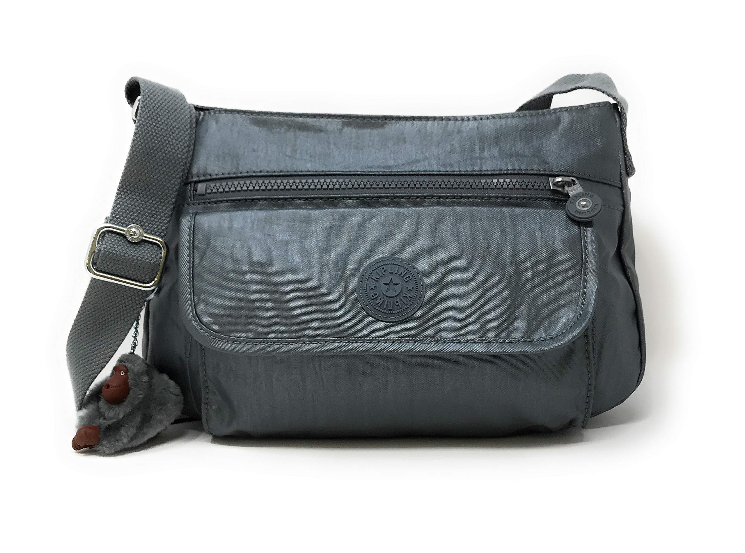 Kipling Syro Crossbody Bag (One Size, Steel Grey Metallic)
