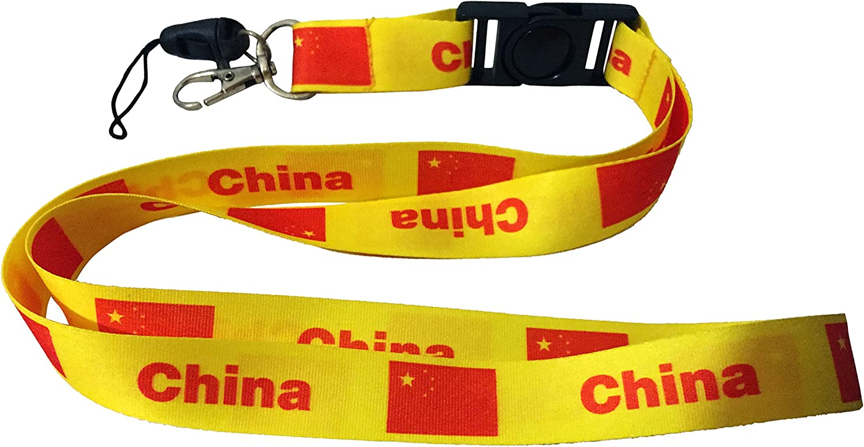 Card Badge Holder Mobile Phone Necklace Strap Lanyards Key Neck Strap Orange