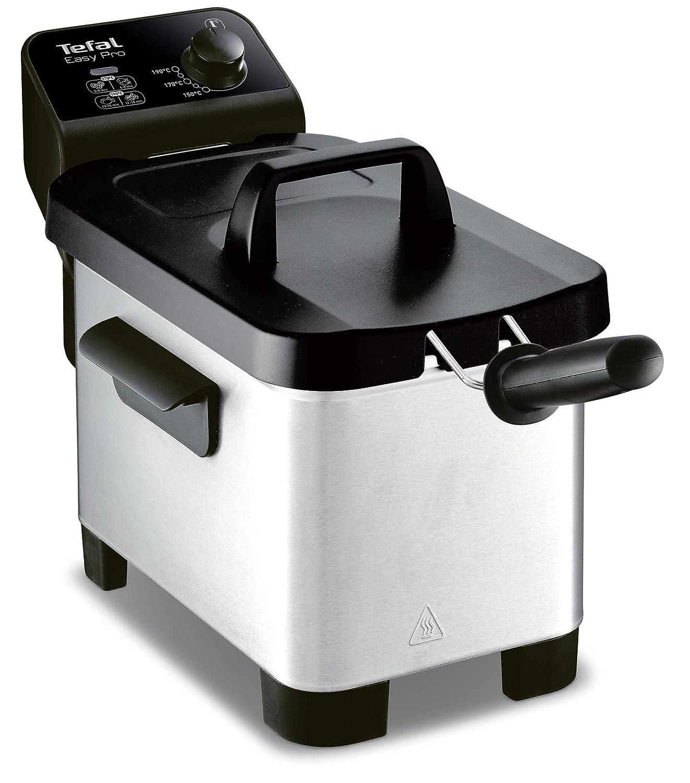 Tefal FR331070/friggitrice Semi-Pro Easy PRO 3L zona fredda e coperchio portaoggetti grigio//nero