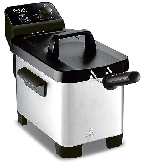 Freidora semiprofesional Easy Pro 3 L Tefal FR331070, zona fría y tapa de almacenaje de
