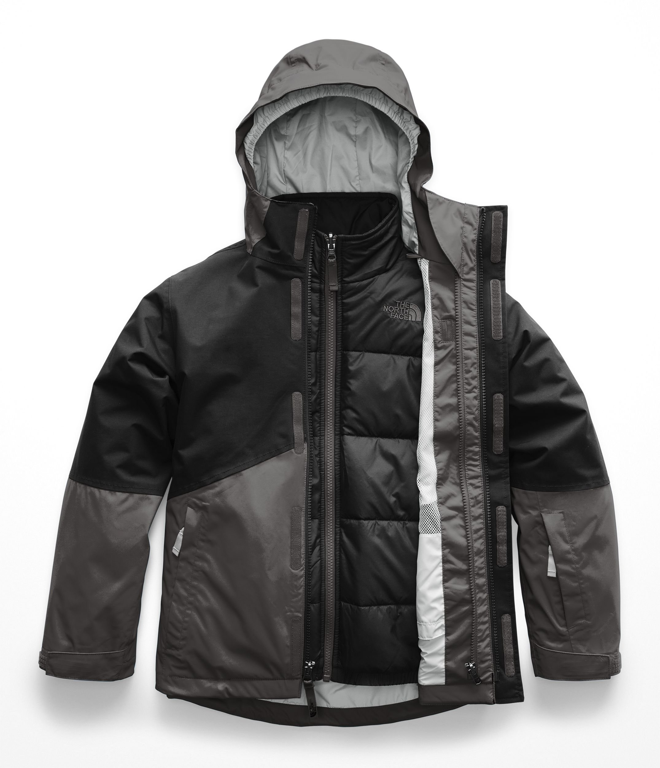 The North Face Kids Boy's Boundary Triclimate¿ Jacket (Little Kids/Big Kids) Graphite Grey XX-Small