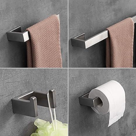 Amazon.com: LuckIn - Juego de toallas de baño de acero ...