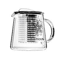 Samova Glas Teekanne, mit Brew Stop Tea Maker Kunststoff Teefilte