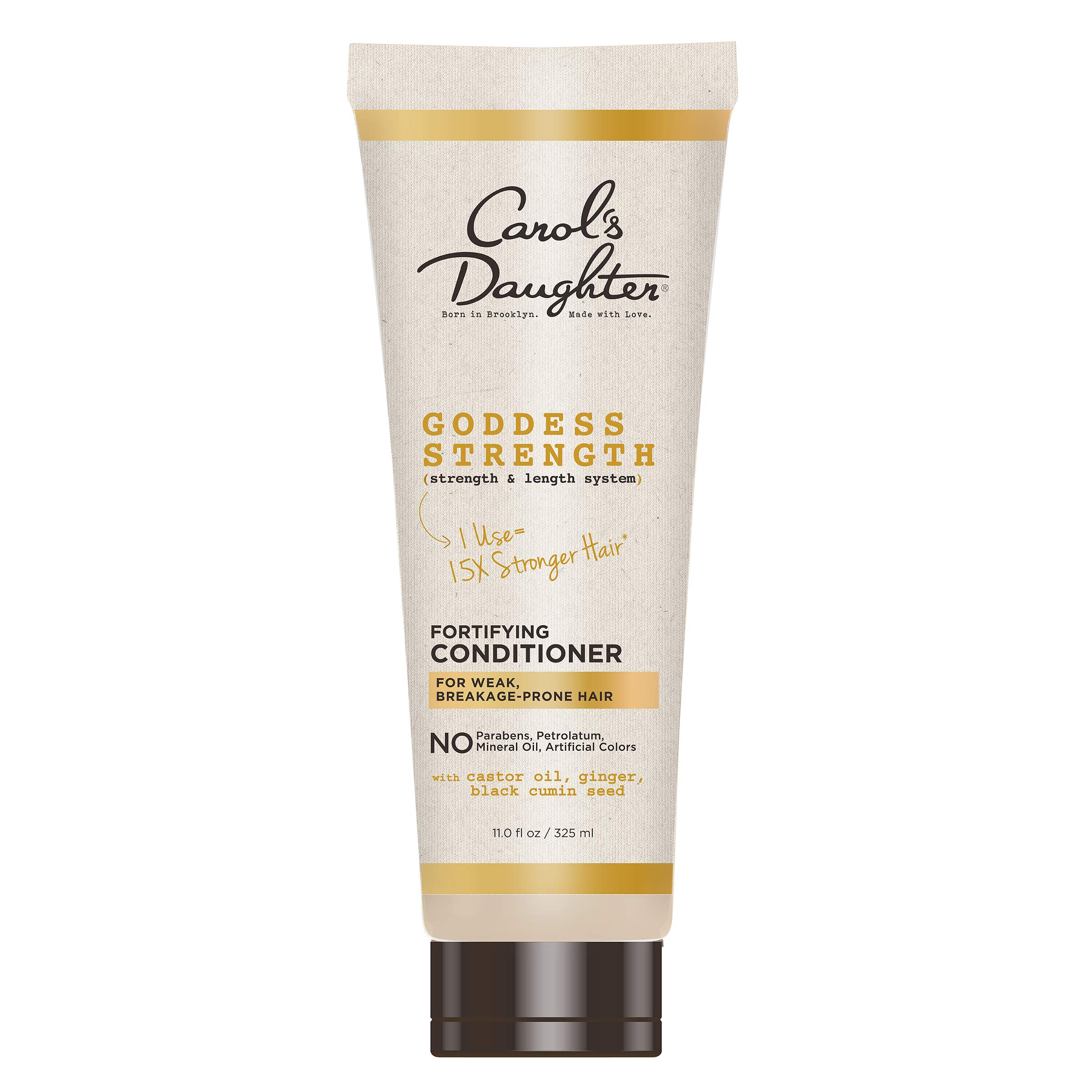 Carol's Daughter Goddess Strength Paraben Free Conditioner for Curly Hair with Castor Oil, Black Seed Oil and Ginger, For Weak, Breakage Prone Hair, Strenghetning Conditioner for Curly Hair 11 fl oz