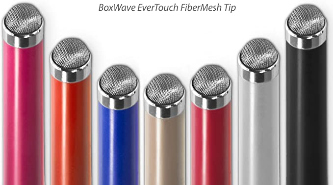 Fiber Tip Capacitive Stylus Pen for Jumper EZpad 4s Pro BoxWave Jet Black Jumper EZpad 4s Pro Stylus Pen EverTouch Capacitive Stylus