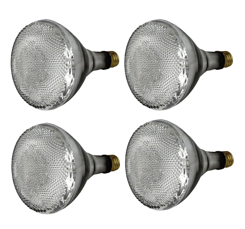 Set of 4 GE Lighting 77757 Energy Efficient Halogen 65 Watt 90 watt replacement 1100 Lumen BR40 Floodlight Bulb with Medium Base