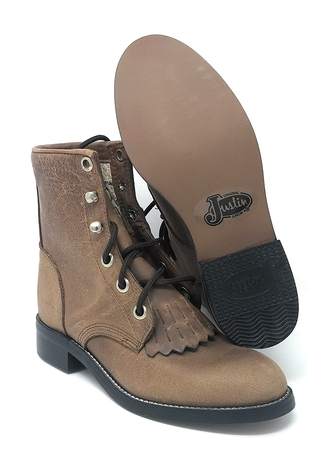 Justin Girls Small Kid Bay Apache Boots Western Style # 545C Size 11.5 D