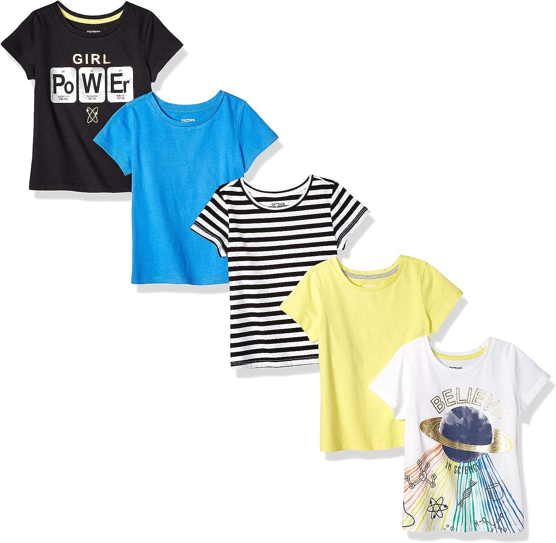 Pacco da 5 Spotted Zebra 5-Pack Short-Sleeve T-Shirts Bambina