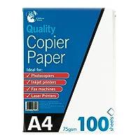 Chiltern Wove Papier à photocopie pour photocopieuse, imprimante laser et imprimante jet d'encre 100feuilles A4 75g/m²