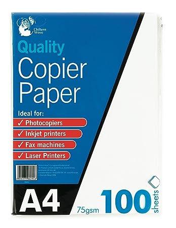 Amazon.com: 151 A4 Papel de copiadora 100 hojas 75 gsm ...