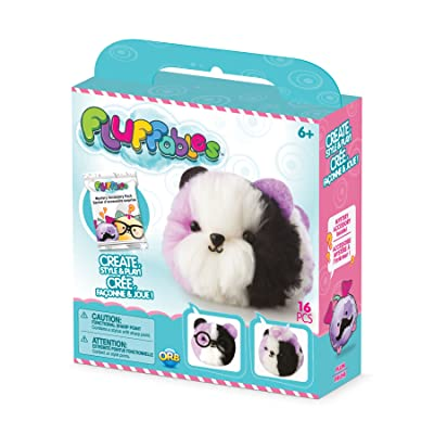 "Orb The Factory Fluffables Plum Arts & Crafts, Purple/White/Black, 5.75"" x 2"" x 6"", Model:777470060000001: Toys & Games"