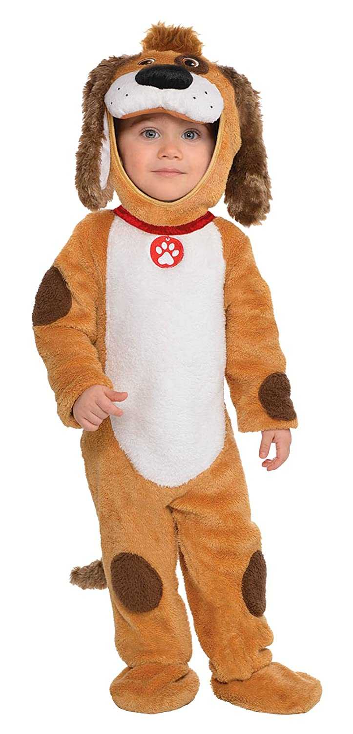 abe1cd81584f Amazon.com  Deluxe Playful Pup Baby Infant Costume - Newborn  Clothing
