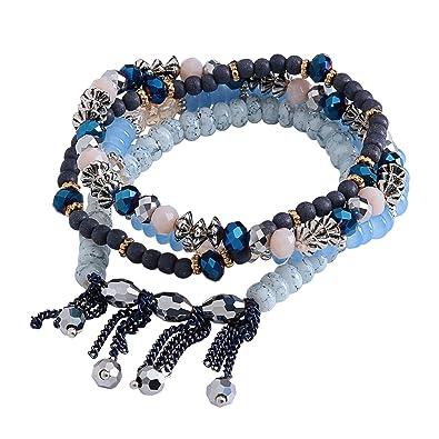Armbänder Uhren & Schmuck Aufrichtig Damenarmbänder 4er Set Geschenk Armband Schmuck Boho Damen Silber