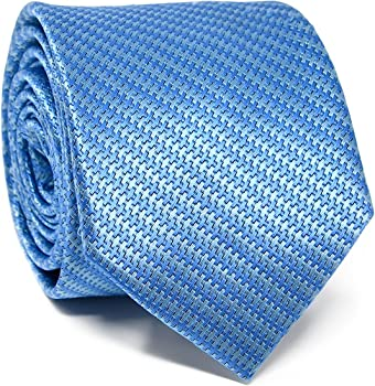 Oxford Collection Corbata de hombre Azul a Rayas - 100% Seda ...