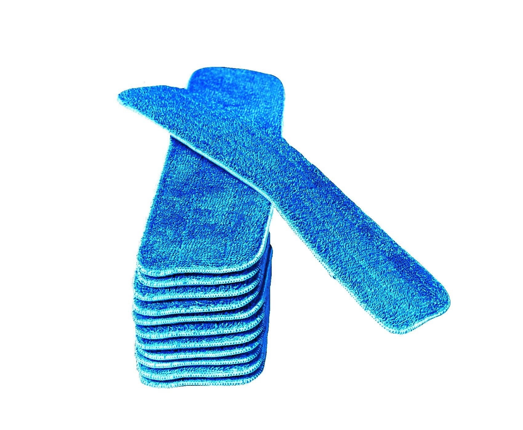20 Inch Microfiber Mop Pad Refills Fits 16 to 19 Inch Mop Frames Wet & Dry Use Commercial Microfiber (12 Pack)