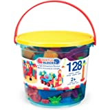 Bristle Blocks Toy Building Blocks for Toddlers (128 Pieces in Bucket)