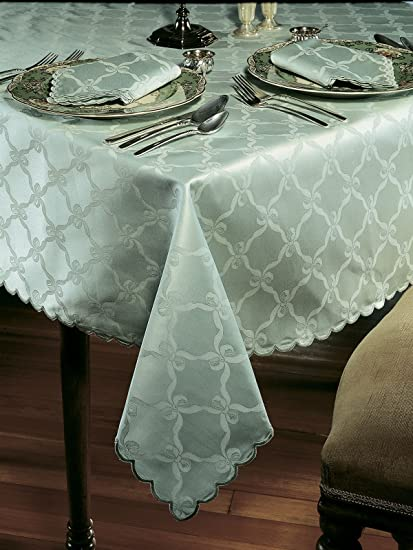Awesome Amazon Com Schweitzer Linen Astor Tablecloths Mint Green Cjindustries Chair Design For Home Cjindustriesco