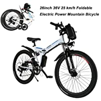 AIMADO Bicicletas Electricas Montaña Plegables 250W 25 Km/h Aluminio,26 Pulgadas