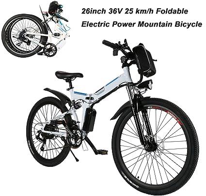 AIMADO Bicicletas Electricas de Montaña Plegables, E-bike MTB 250W 25 km/h Shimano 12 Velocidades, ...