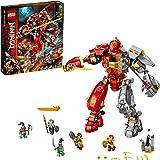 LEGO NINJAGO Fire Stone Mech 71720 Building Kit Featuring Ninja Mech, New 2020 (968 Pieces)
