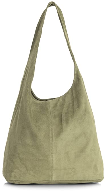 0e6e573b9139 Amazon.com  LiaTalia Womens Large Italian Suede Leather Single Shoulder  Strap Hobo Slouch Bag with Storage Bag - Shay  Camel Brown   Shoes