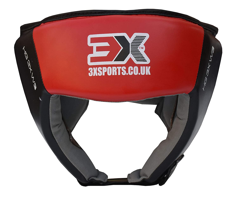 Caschetto integrale di protezione in pelle sintetica per MMA, Muay Thai, Kick Boxing, arti marziali, UFC, Black, L 3x Professional Choice