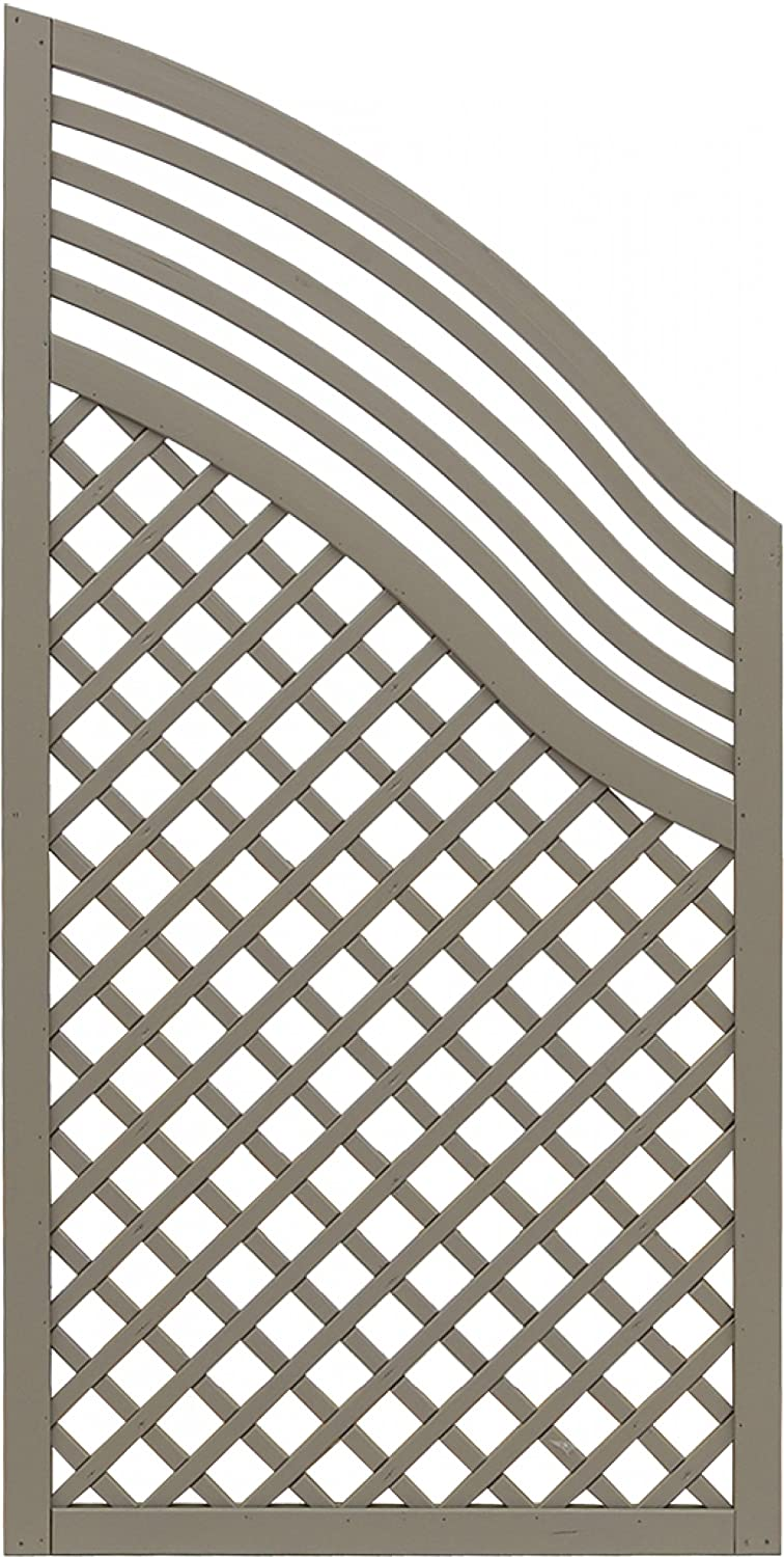 Andrewex wooden fence, privacy, garden fence, fencing panel 120 180 x 90, varnished, grey