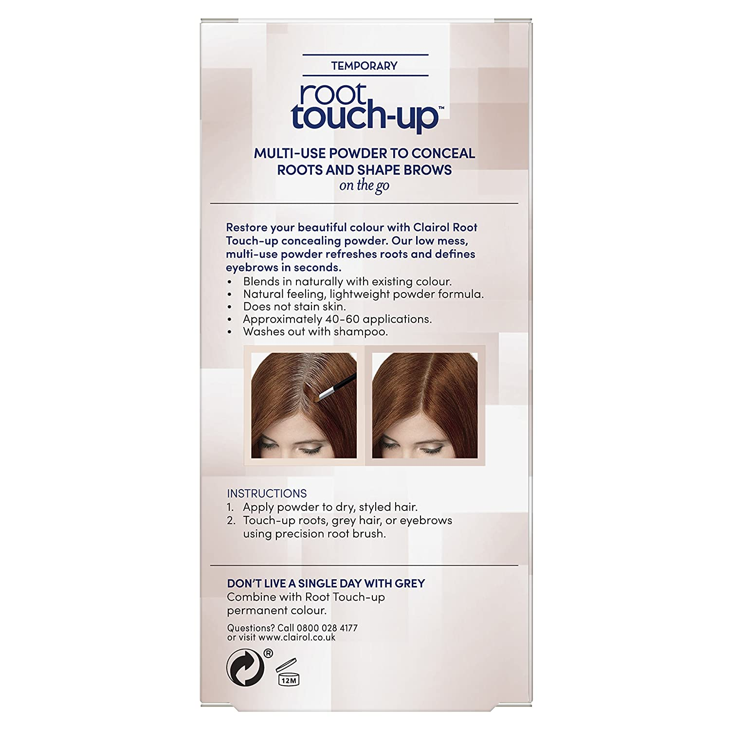 Clairol Root Touch Up Hair Dye Temporary Roots And Eyebrow Powder