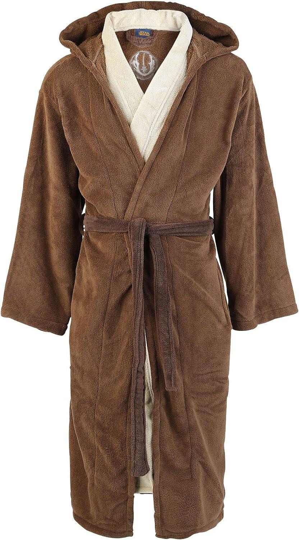 Star Wars Jedi Unisex Bata marrón/Beige, seitlichen Eingrifftaschen, Stickerei Regular
