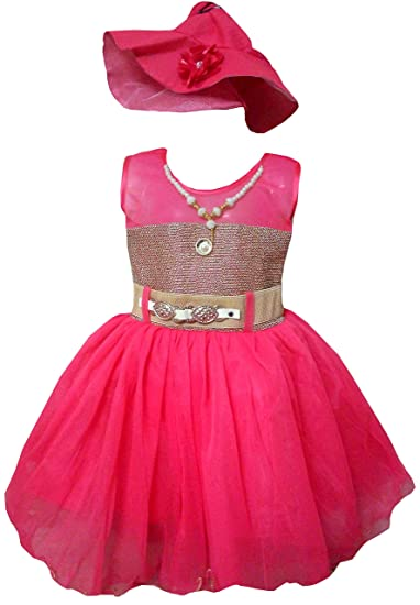 237a484262a ALL ABOUT PINKS reg  Party Wear Dresses for Girls Birthday Dress Baby Girl  Frocks Party Dress