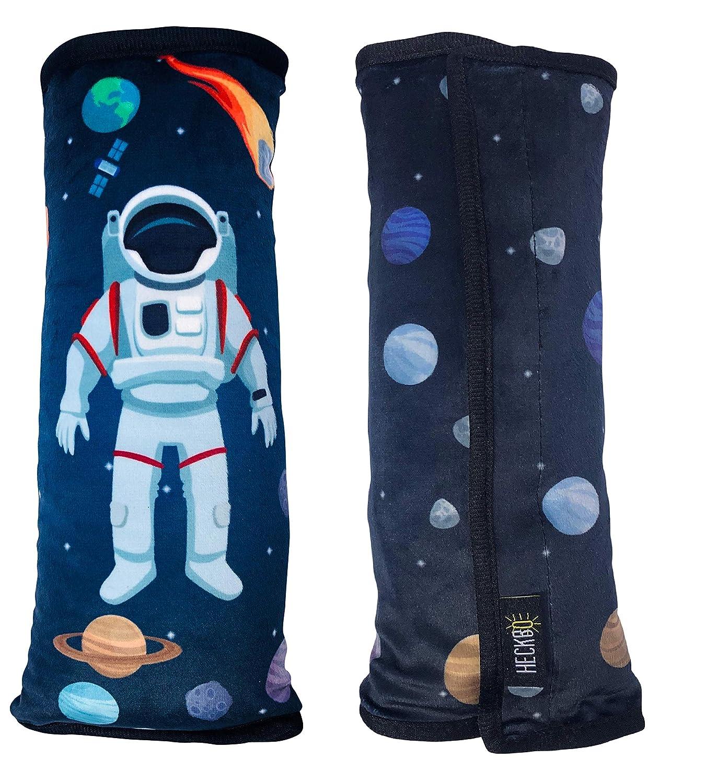 Lavabile in Lavatrice Protezione Copricintura per Auto Alta Qualit/à Space Astronaut Morbido e Confortevole HECKBO/® Cuscino per Cintura di Sicurezza con Astronauta nello Spazio