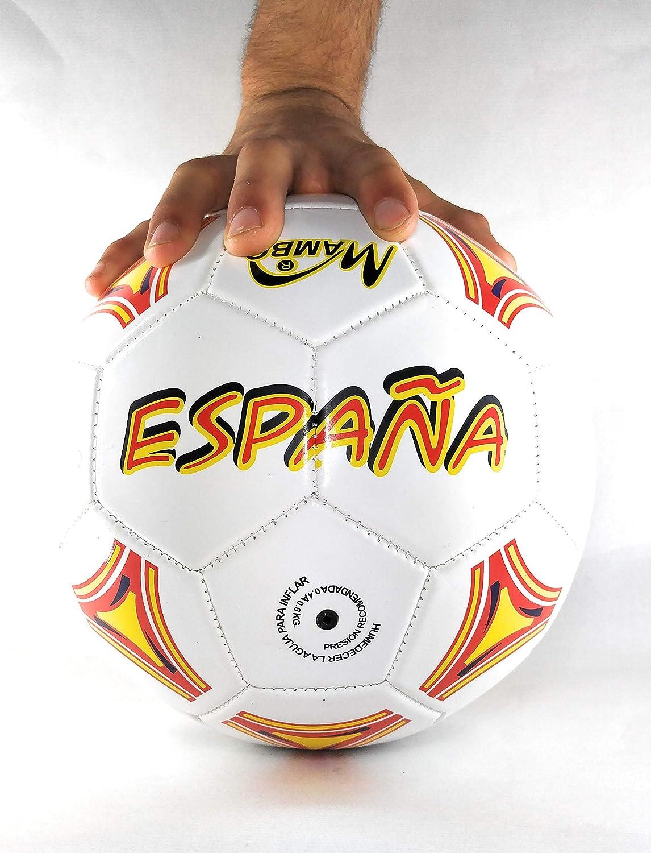 Mambo Balon de ESPAÑA de fútbol Talla 5 (Grande) Pelota la roja: Amazon.es: Deportes y aire libre