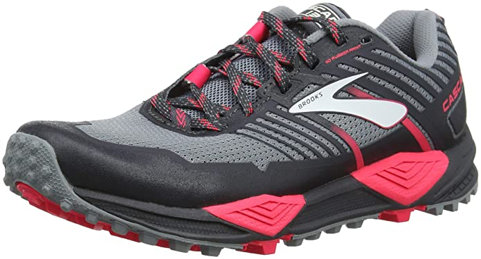 Brooks Women's Cascadia 13 Grey/Grey/Pink 7.5 B US