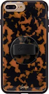 Sonix Brown Tort Case + Phone Ring [10ft Drop Tested] Protective Luxe Tortoise Shell Leopard Print Case for Apple iPhone 6+, 6s+, 7+, 8+