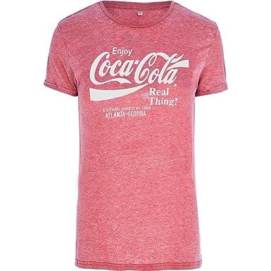 96c850980 Coca Cola Men's Georgia Short Sleeve Burnout Red T-Shirt: Amazon.co ...