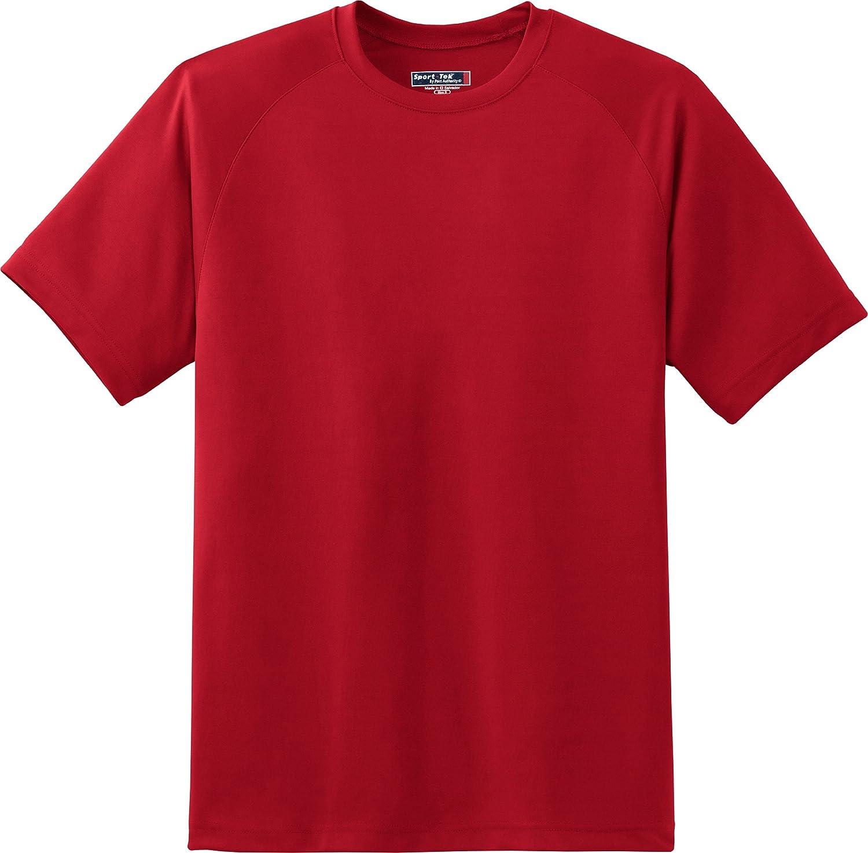 Sport-Tek Mens Dry Zone Short Sleeve Raglan T Shirt