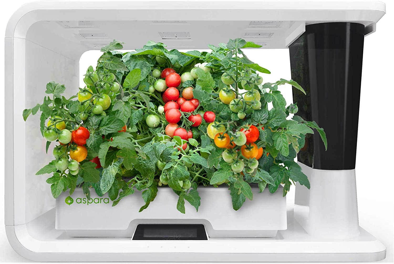 aspara Nature – AS1001WH Smart IoT Hydroponics Grower Growing System, 16 grow pods, 10 sensors, all seasons indoor garden support Apple iOS and Google Android app