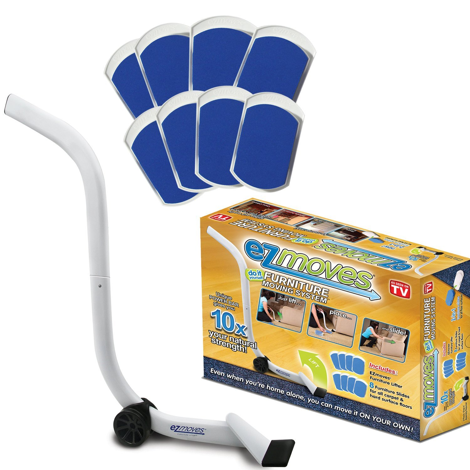 EZ Moves Furniture Moving Pads System (1 Lifter Tool & 8 Sliders) As Seen on TV shaung@allstarmg EZ011106