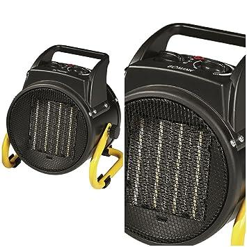 mobile Elektro Heizung, L/üfter, regelbarer Thermostat, Tragegriff, /Überhitzungsschutz 2in1 Heizl/üfter und Ventilator mit starken 2000 Watt 2 Heizstufen